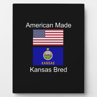 """American Born..Kansas Bred"" Flags and Patriotism Plaque"