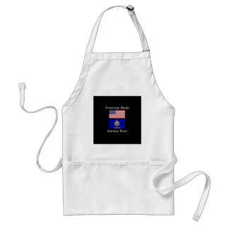 """American Born..Kansas Bred"" Flags and Patriotism Standard Apron"