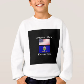 """American Born..Kansas Bred"" Flags and Patriotism Sweatshirt"