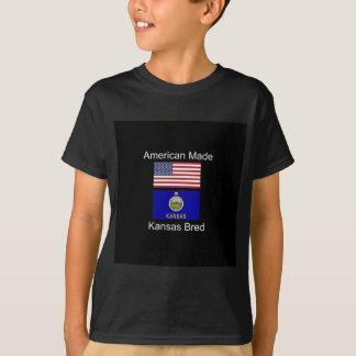 """American Born..Kansas Bred"" Flags and Patriotism T-Shirt"