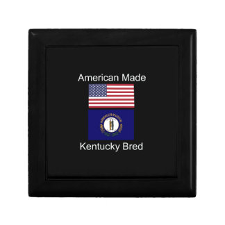 """American Born..Kentucky Bred"" Flag Design Gift Box"