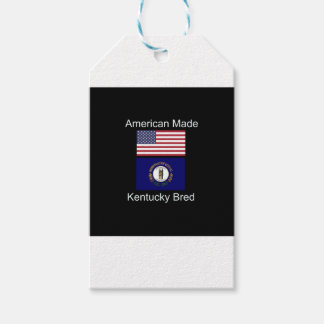 """""""American Born..Kentucky Bred"""" Flag Design Pack Of Gift Tags"""