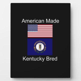"""""""American Born..Kentucky Bred"""" Flag Design Plaque"""