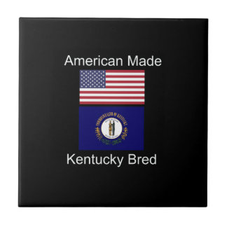 """American Born..Kentucky Bred"" Flag Design Tile"