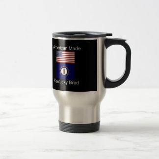 """American Born..Kentucky Bred"" Flag Design Travel Mug"