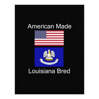 """American Born..Louisiana Bred"" Flag Design Letterhead Template"