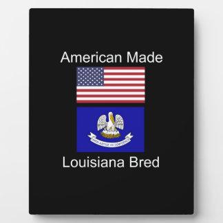 """""""American Born..Louisiana Bred"""" Flag Design Plaque"""