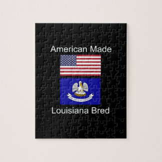 """American Born..Louisiana Bred"" Flag Design Puzzle"