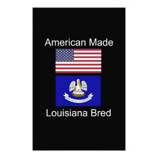 """American Born..Louisiana Bred"" Flag Design Stationery"