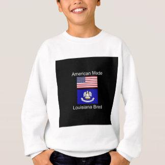 """American Born..Louisiana Bred"" Flag Design Sweatshirt"