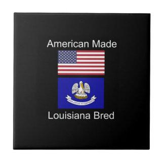 """American Born..Louisiana Bred"" Flag Design Tile"