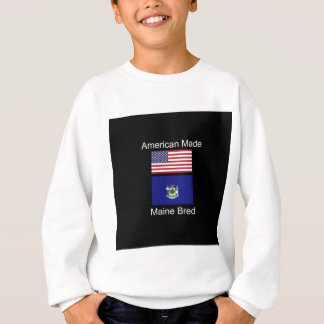 """American Born..Maine Bred"" Flags and Patriotism Sweatshirt"