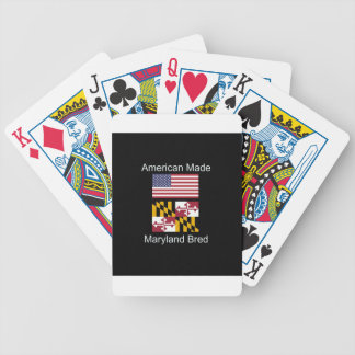 """""""American Born..Maryland Bred"""" Flag Design Bicycle Playing Cards"""