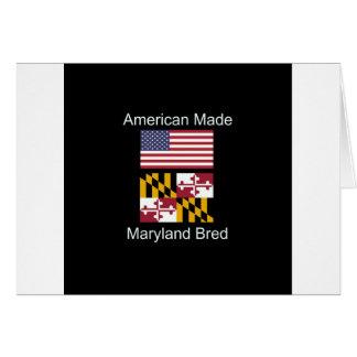 """American Born..Maryland Bred"" Flag Design Card"