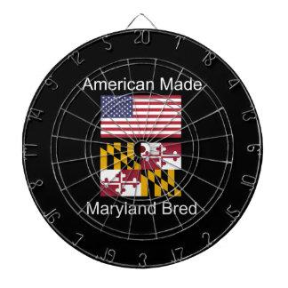 """American Born..Maryland Bred"" Flag Design Dartboard"