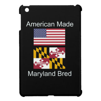 """American Born..Maryland Bred"" Flag Design iPad Mini Cover"