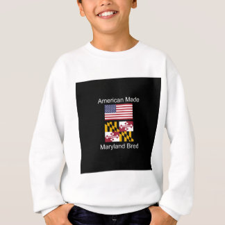 """American Born..Maryland Bred"" Flag Design Sweatshirt"