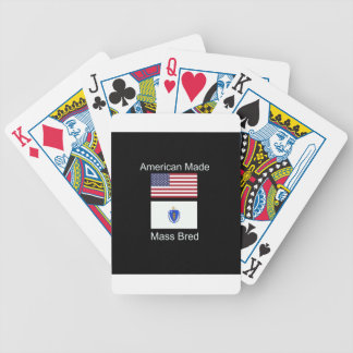 """American Born..Massachusetts Bred"" Flag Design Bicycle Playing Cards"
