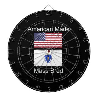 """American Born..Massachusetts Bred"" Flag Design Dartboard"