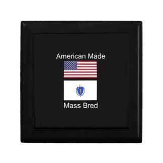 """American Born..Massachusetts Bred"" Flag Design Jewelry Boxes"