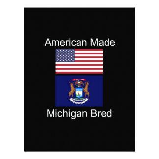 """""""American Born..Michigan Bred"""" Flag Design Letterhead"""