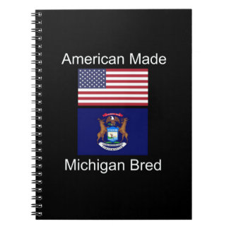 """American Born..Michigan Bred"" Flag Design Notebook"