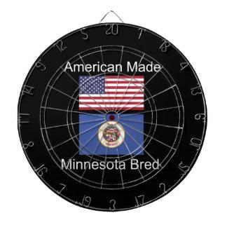 """American Born..Minnesota Bred"" Flag Design Dartboard"