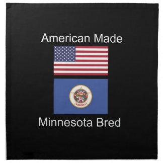 """American Born..Minnesota Bred"" Flag Design Napkin"