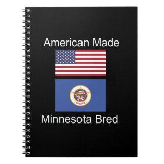 """American Born..Minnesota Bred"" Flag Design Notebook"