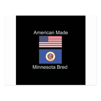 """American Born..Minnesota Bred"" Flag Design Postcard"