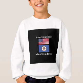 """American Born..Minnesota Bred"" Flag Design Sweatshirt"