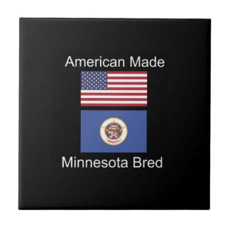 """""""American Born..Minnesota Bred"""" Flag Design Tile"""