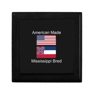 """""""American Born..Mississippi Bred"""" Flag Design Jewelry Boxes"""