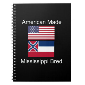 """American Born..Mississippi Bred"" Flag Design Note Books"