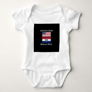 """American Born..Missouri Bred"" Flag Design Baby Bodysuit"