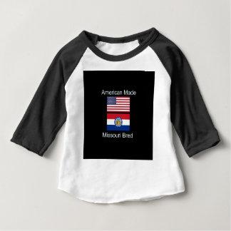 """American Born..Missouri Bred"" Flag Design Baby T-Shirt"