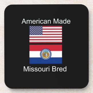 """""""American Born..Missouri Bred"""" Flag Design Beverage Coasters"""