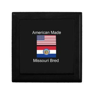 """""""American Born..Missouri Bred"""" Flag Design Jewelry Boxes"""