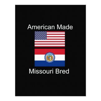 """""""American Born..Missouri Bred"""" Flag Design Letterhead Design"""