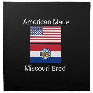 """American Born..Missouri Bred"" Flag Design Napkin"