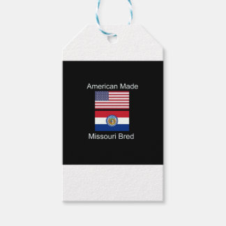 """""""American Born..Missouri Bred"""" Flag Design Pack Of Gift Tags"""