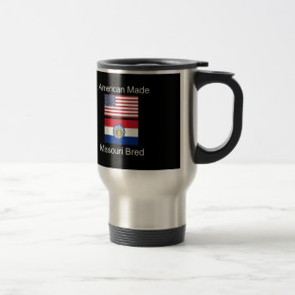 """American Born..Missouri Bred"" Flag Design Travel Mug"