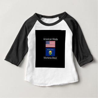 """American Born..Montana Bred"" Flags and Patriotism Baby T-Shirt"