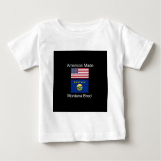 """""""American Born..Montana Bred"""" Flags and Patriotism Baby T-Shirt"""