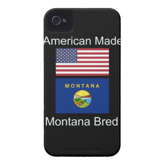 """""""American Born..Montana Bred"""" Flags and Patriotism iPhone 4 Cases"""