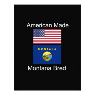 """American Born..Montana Bred"" Flags and Patriotism Letterhead"
