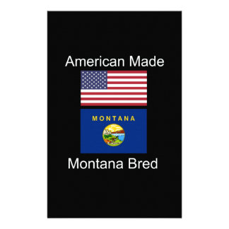 """""""American Born..Montana Bred"""" Flags and Patriotism Stationery"""