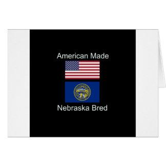 """American Born..Nebraska Bred"" Flag Design Card"