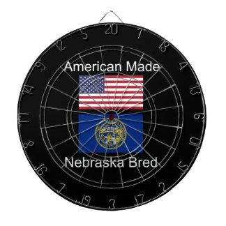 """American Born..Nebraska Bred"" Flag Design Dartboard"