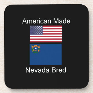 """""""American Born..Nevada Bred"""" Flags and Patriotism Drink Coaster"""